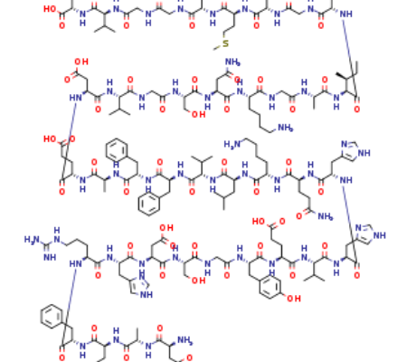 Structure of Beta Amyloid1 40 CAS 131438 79 4 450x400 - Fmoc-L-threoninol p-carboxybenzacetal CAS 205109-16-6