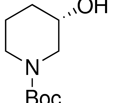 Structure of S 1 Boc 3 hydroxypiperidine CAS 143900 44 1 450x400 - (S)-1-Boc-3-hydroxypiperidine CAS 143900-44-1