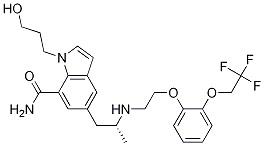 1-(3-Hydroxypropyl)-5-[(2R)-2-[[2-[2-(2,2,2-trifluoroethoxy)phenoxy]ethyl]aMino]propyl]-1H-indole-7-carboxaMide CAS 175870-21-0