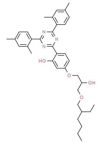 Structure of UV 405 CAS 137658 79 8 - Terephthalylidene dicamphor sulfonie acid(Mexoryl SX) CAS 90457-82-2