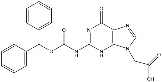 2-(2-(((benzhydryloxy)carbonyl)amino)-6-oxo-3,6-dihydro-9H-purin-9-yl)acetic acid CAS AANA-0129