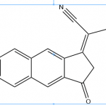 Structure of 2 67 difluoro 3 oxo 23 dihydro 1H cyclopentabnaphthalen 1 ylidenemalononitrile CAS OPVNA 0001 150x150 - Ferene disodium salt CAS 79551-14-7