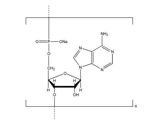 Structure of Polyadenosinic acid sodium salt CAS NNA 0009 - Polyadenosinic acid sodium salt CAS NNA-0009
