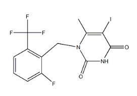 1-[2-fluoro-6-(trifluoromethyl)benzyl]-5-iodo-6-methylpyrimidine-2,4(1H,3H)-dione CAS 1150560-54-5