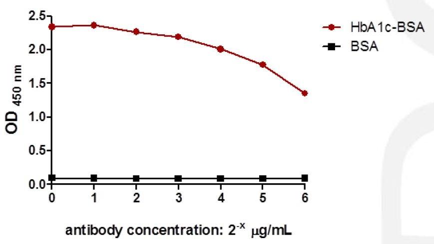 Anti HbA1c Hemoglobin CAS 9008 02 0 A1c antibody in ELISA1 - Anti-HbA1c (Hemoglobin CAS 9008-02-0 A1c) antibody