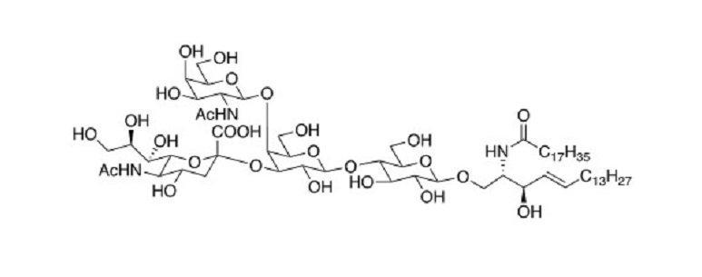 Neu5Aca2,3(GalNAcb1,4)Galb1,4Glc Ceramide CAS 127663-77-8