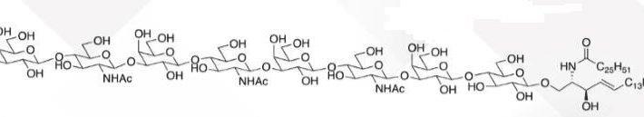Galb1,4GlcNAcb1,3Galb1,4GlcNAcb1,4Galb1,4GlcNacb1,3Galb1,4Glc Ceramide CAS WUNA-0011