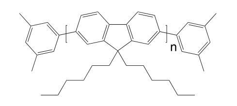 Poly[9,9-dihexylfluorenyl-2,7-diyl] end capped withdimethylphenyl CAS 1010129-39-1