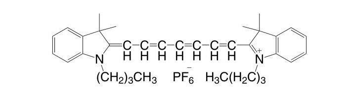 1,1'-Dibutyl-3,3,3',3'-tetramethyl-indo-tricarbocyaninehexafluorophosphate CAS 134339-08-5