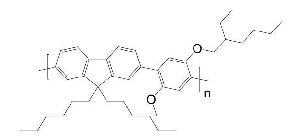 Poly[(9,9-dihexylfluorenyl-2,7-diyl)-alt-(2-methoxy-5-{2-ethylhexyloxy}-1,4-phenylene)] CAS 475102-99-9