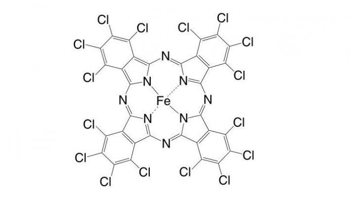 Iron(II) 1,2,3,4,8,9,10,11,15,16,17,18,22,23,24,25-hexadecachloro-phthalocyanine CAS 50662-67-4