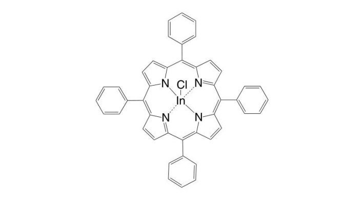 Indium(III) 5,10,15,20-tetraphenylporphyrin chloride CAS 63128-70-1