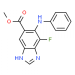 Structure of Methyl 7 fluoro 6 phenylamino 3H benzodimidazole 5 carboxylate CAS 606093 59 8 150x150 - DMAB CAS 74-94-2